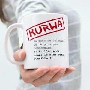 tasse mug modèle KURWA Polonais